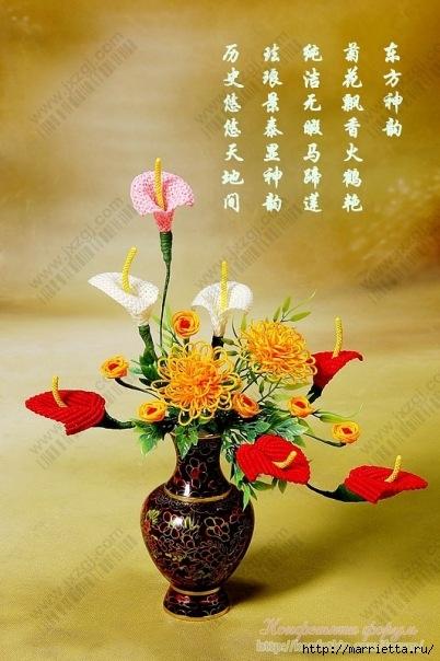 Цветы в технике китайского макраме (13) (402x604, 171Kb)