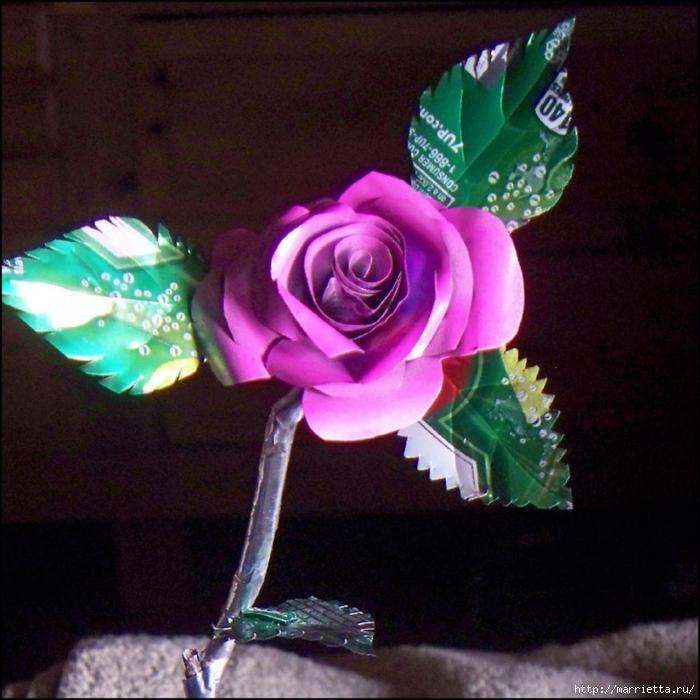 Розы и бабочки из алюминиевых баночек. Мастер-класс (11) (700x700, 332Kb)
