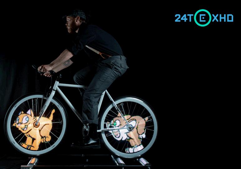 Новый гаджет превращает колесо в дисплей