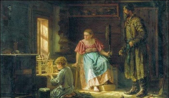 Крестьянские дети рано взрослели.