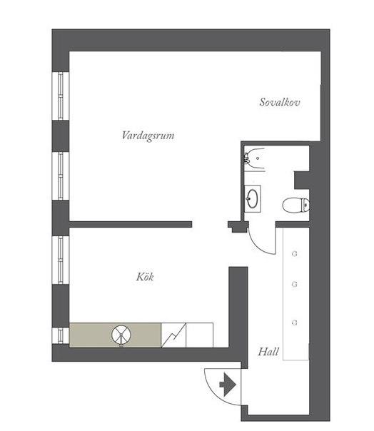 Квартира площадью 42 кв.м.