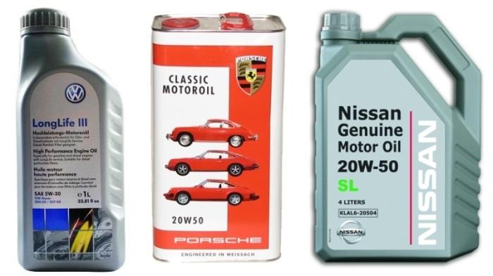 Моторное масло «от автопроизводителя».