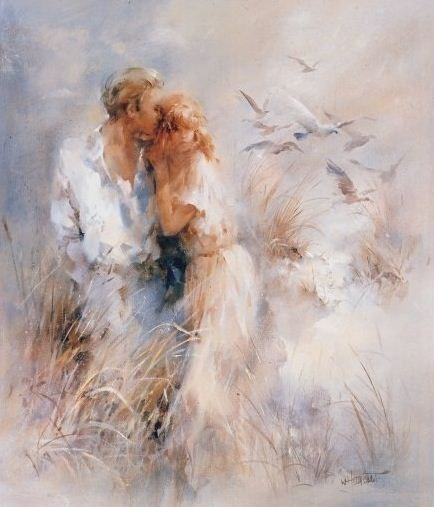 Воздушная живопись редкой красоты —  нежные акварели  Виллема Хайенраетса