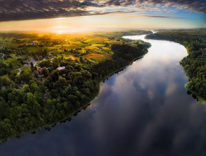 Литва с высоты