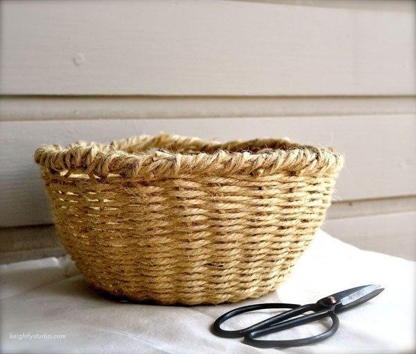Плетение корзины из обычного шпагата