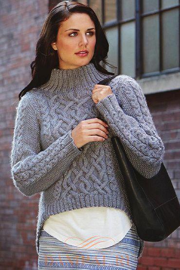 Женский пуловер «Rustic Trails»: описание, выкройка