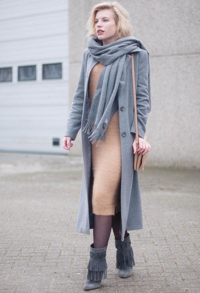 Элегантные вязанные платья на каждый день
