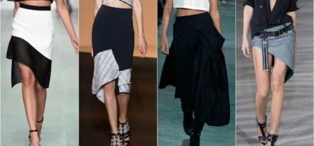Уроки стиля. Как выбрать и носить асимметричную юбку?