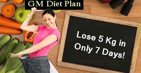 План ГМ диеты, который поможет вам потерять 5 кг всего за 7 дней!