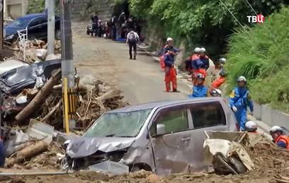 Путин выразил соболезнования Синдзо Абэ в связи с гибелью людей из-за наводнений
