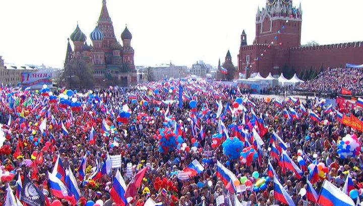 В Москве началось шествие в честь Дня труда