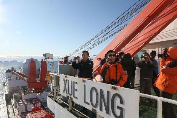 В Китае спустили на воду первый ледокол собственной постройки
