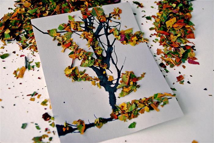 поделки из осеннего природного материала