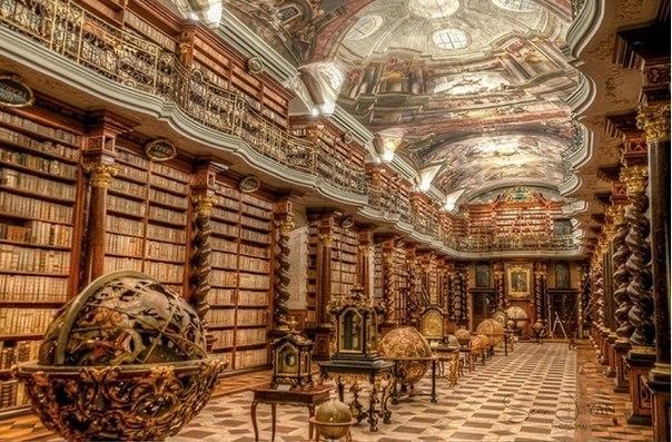 Невероятно красивая Пражская национальная библиотека, Чехия