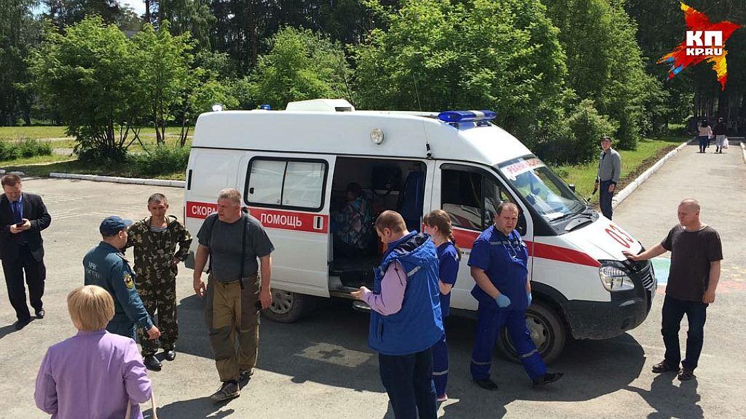 Ребенка эвакуировали на вертолете Фото: ГУ МЧС по Свердловской области