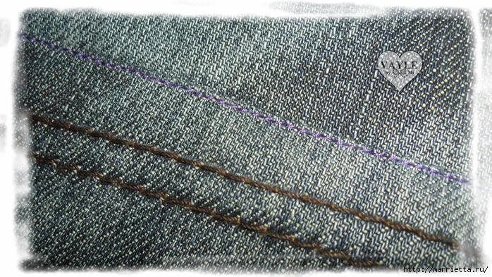 Как сшить жилет из старых джинсов (9) (700x393, 354Kb)