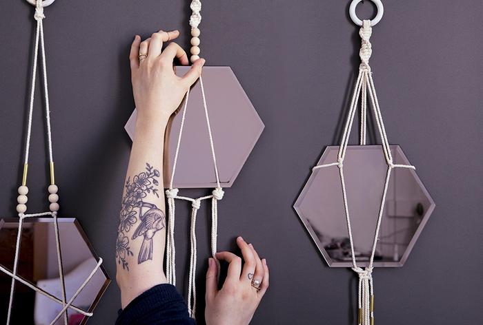 Рама-макраме для зеркала