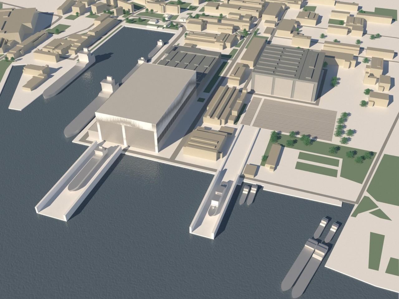 Начало строительства нового судостроительного комплекса на Северной верфи