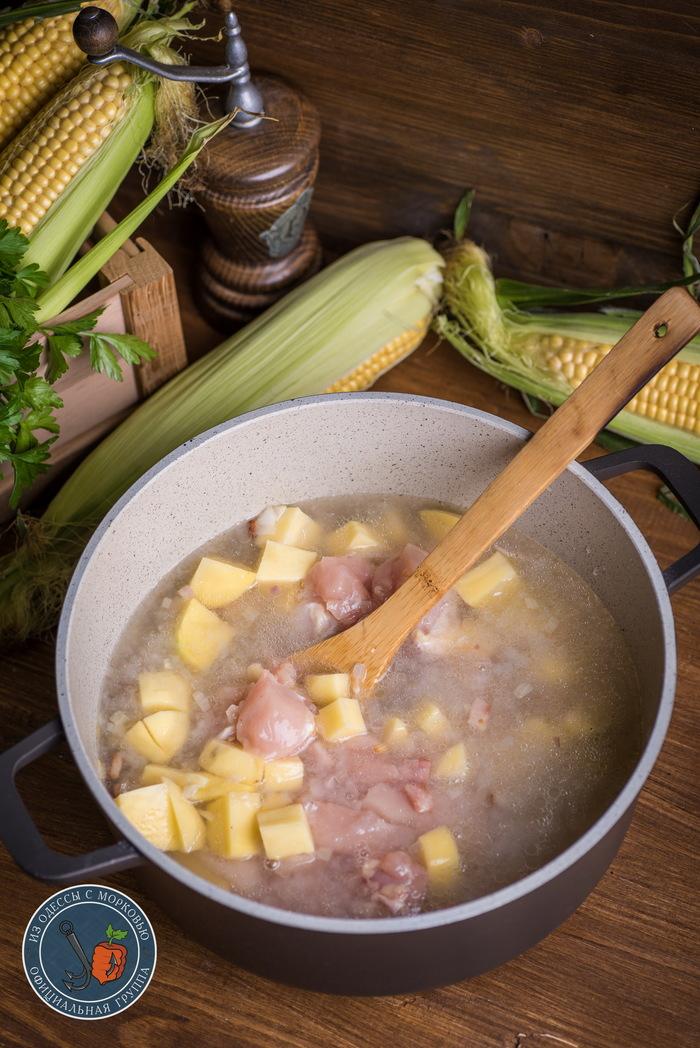 Южный Чаудер. Согревающий суп для душевного человека Из Одессы с морковью, Кулинария, Еда, Рецепт, Длиннопост, Фотография, Суп