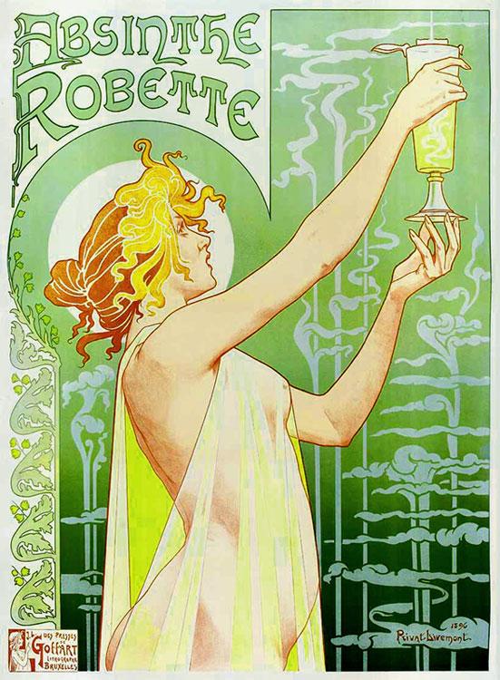 Абсент – французская зеленая ведьма