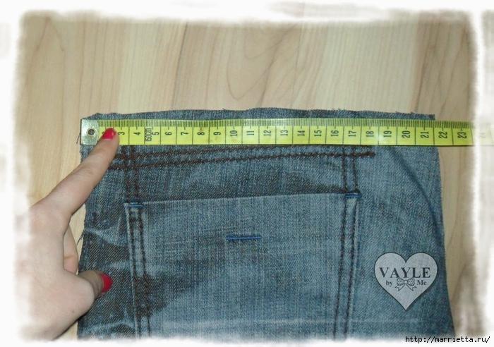 Как сшить жилет из старых джинсов (4) (700x492, 266Kb)