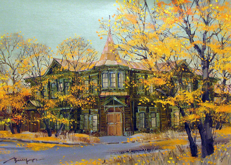 Улочки иркутские. Древние дома...замечательные городские пейзажи  Лобаревой Вероники