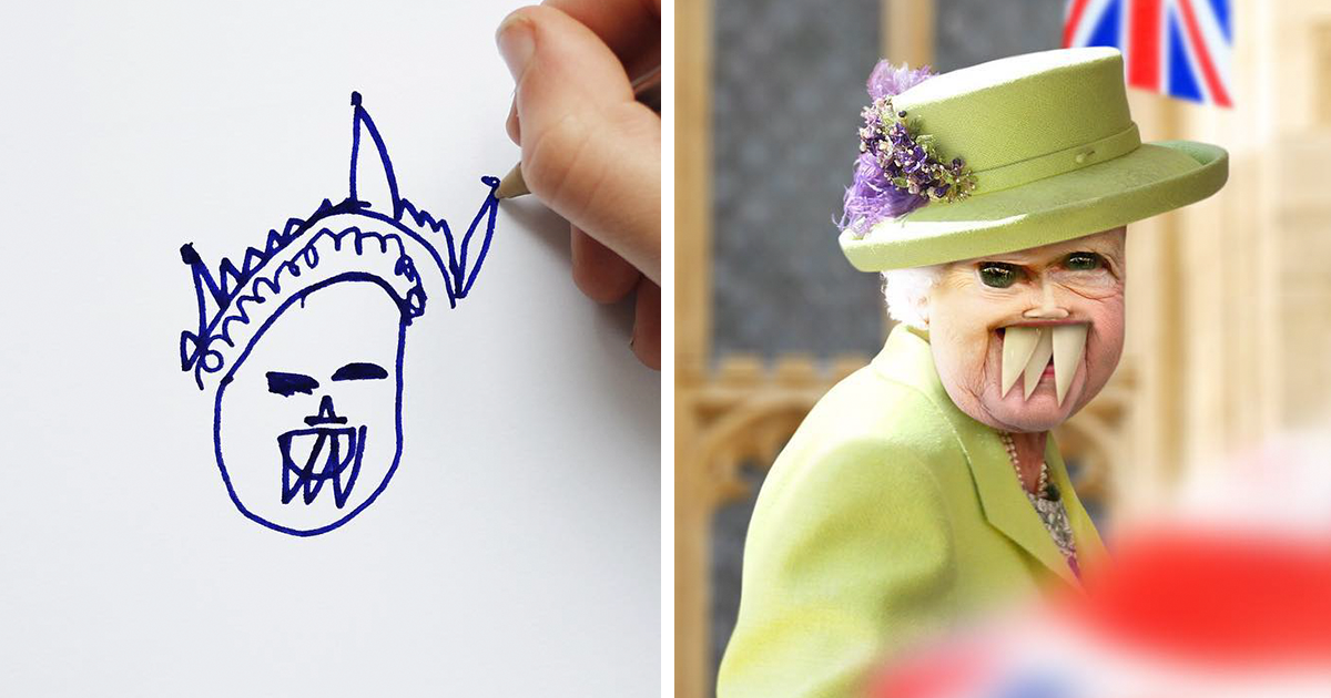 This Dad Turns Children's Drawings Into Reality, And The Results Are Both Terrifying And Hilarious (New Pics)