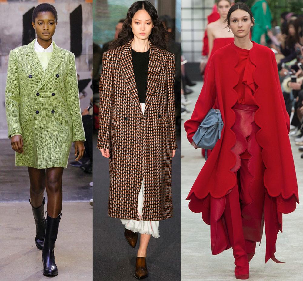 Модное женское пальто осень-зима 2018-2019