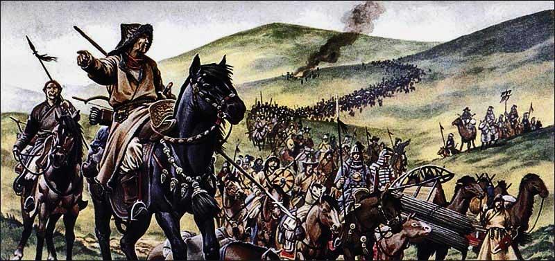 Клязьма - нашествие монголов