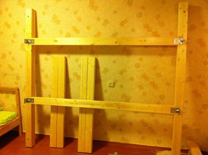 Как сделать Сделать двухъярусную кровать своими руками