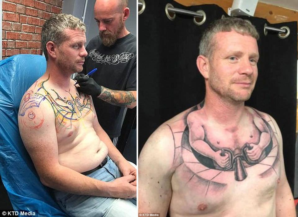 Татуировка, заставляющая посмотреть на себя дважды