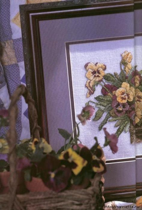 Схема вышивки панно. АНЮТИНЫ ГЛАЗКИ и бабочки (2) (473x700, 244Kb)