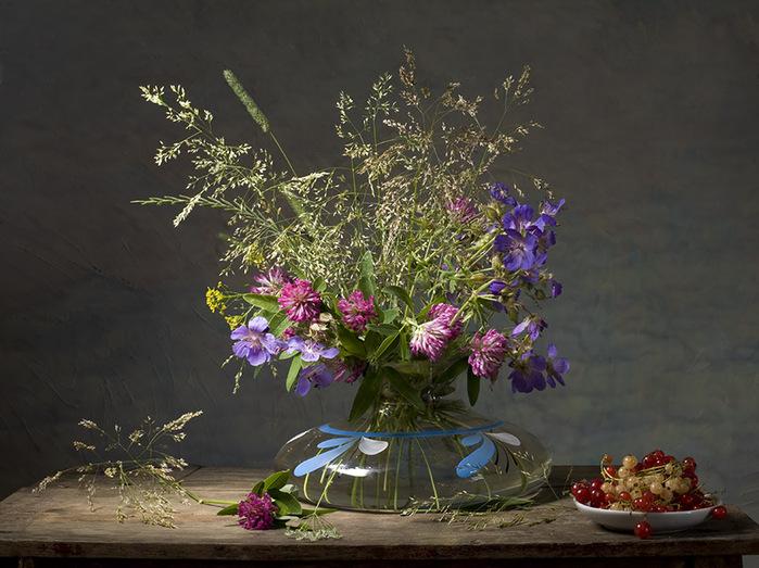 Цветы полевой букет фото натюрморт