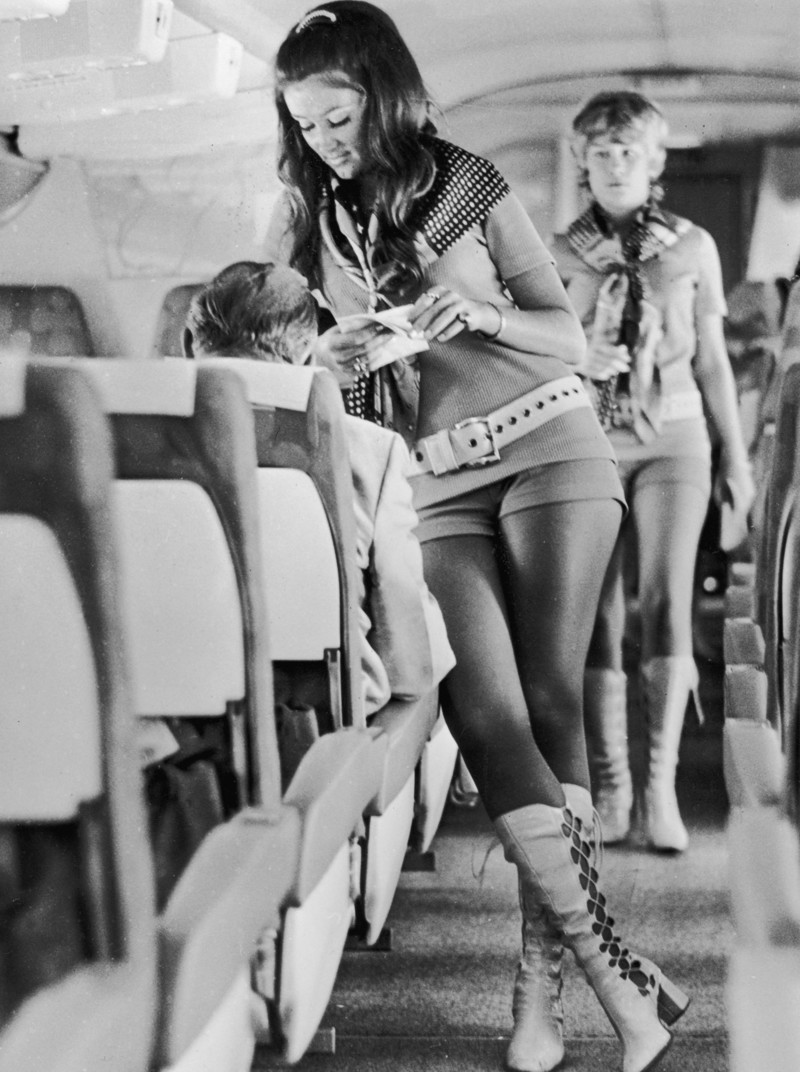 10. Стюардессы, 1972 год, США женщины из прошлого, история, фото