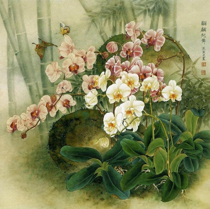 Душистая дымка цветов... Китайская художница Liang Yan Sheng