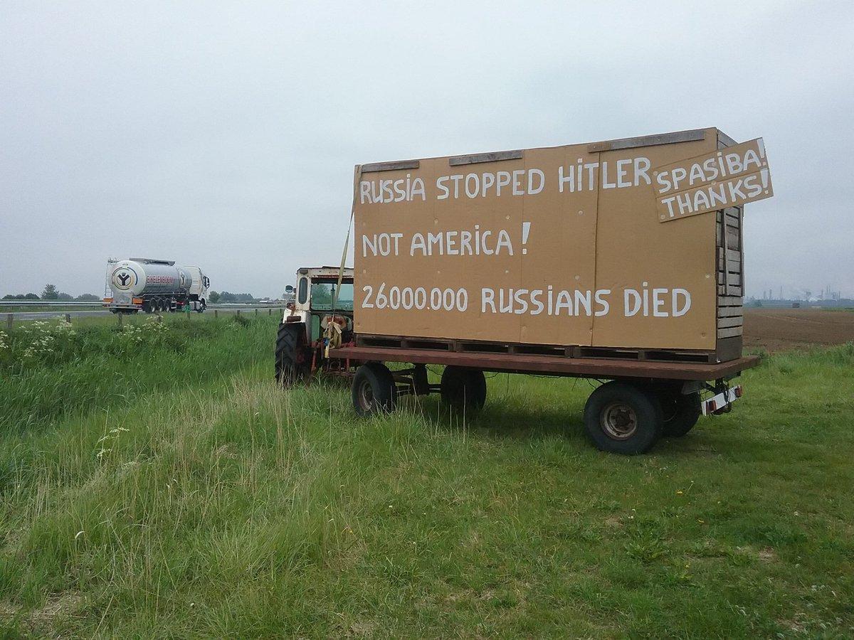 Голандец благодарит русских  за освобождение от Гитлера