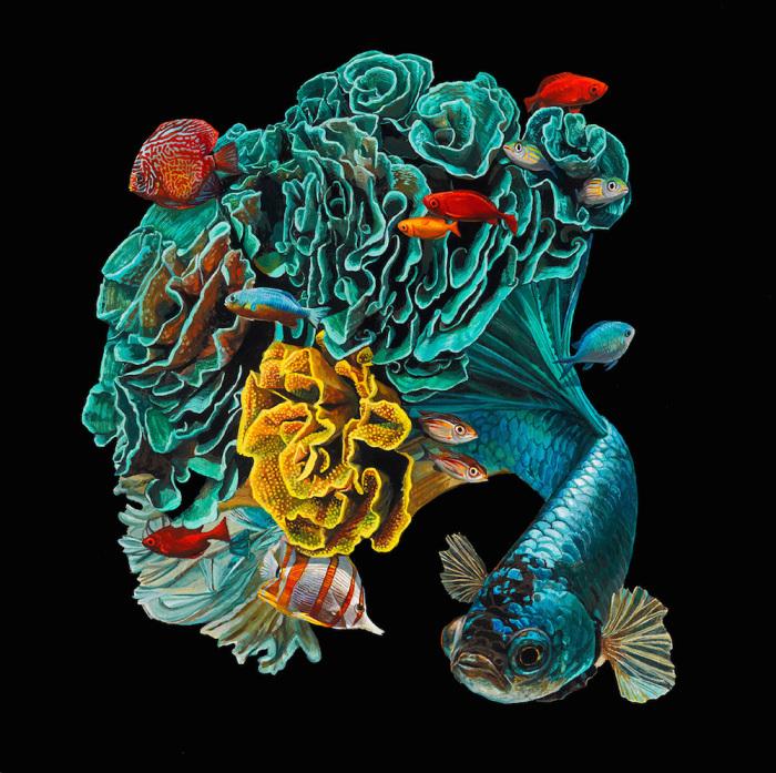 В объятиях морских глубин. Автор: Lisa Ericson.