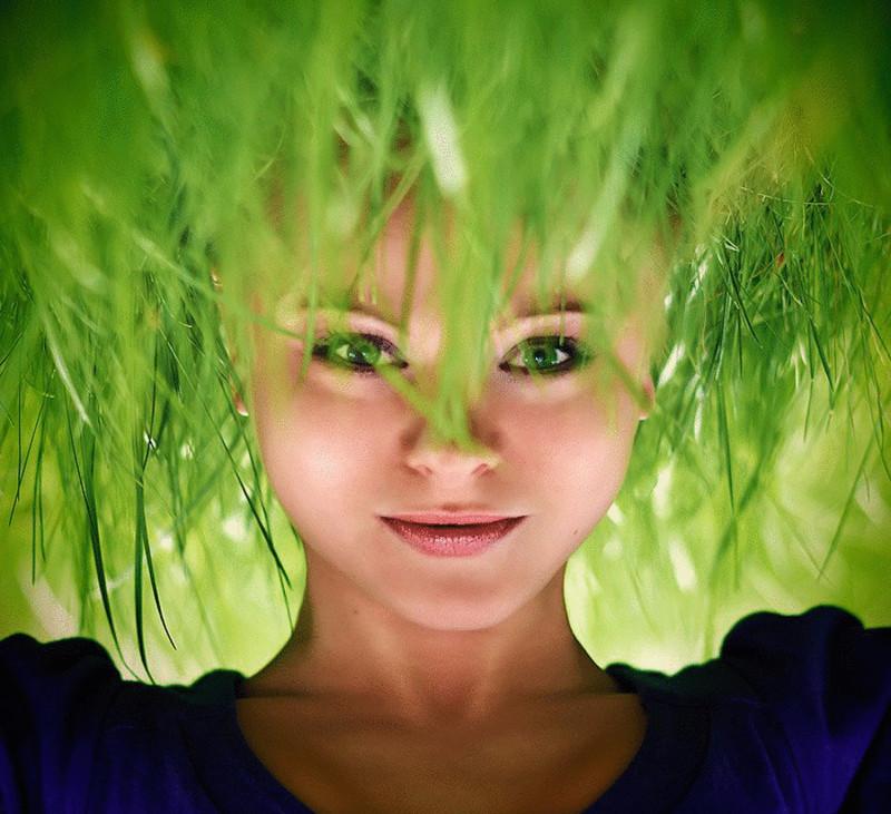 Травяные волосы. перспектива, правильный ракурс, прикол, фотографии, юмор