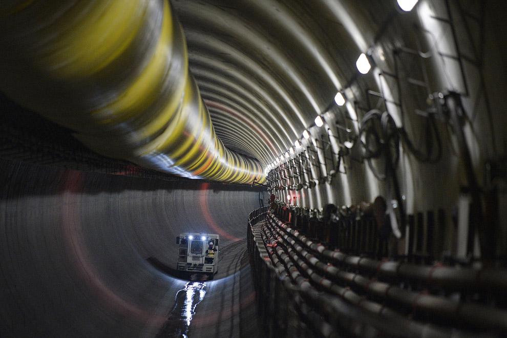 Строительство метро в Ренне, Франция