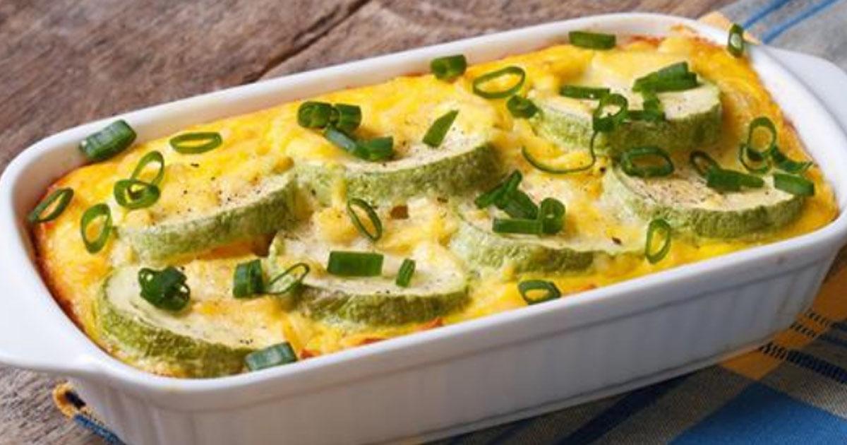 Нежные кабачки запеченные в яйце -легкое и безумно вкусное блюдо!