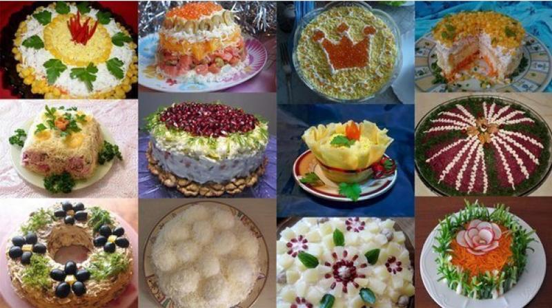 Готовимся к Новому Году: ТОП-12 лучших праздничных салатов