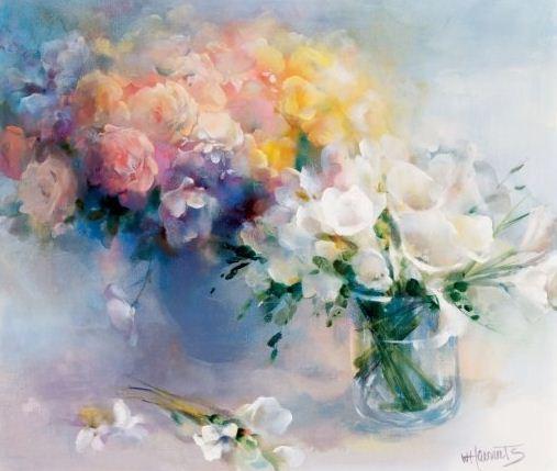 Willem Haenraets. Воздушная живопись. RHYME OF FLOWERS