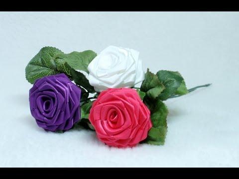 Создание цветов из лент