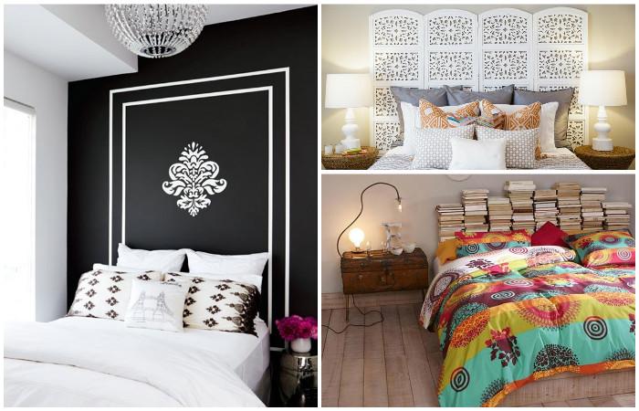 Интересные идеи стильного оформления изголовья кровати