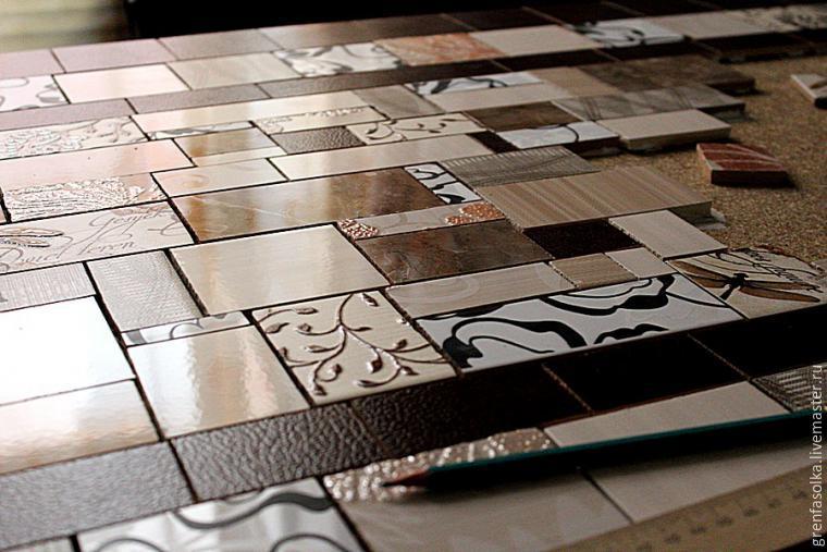 Создаём мозаичную столешницу