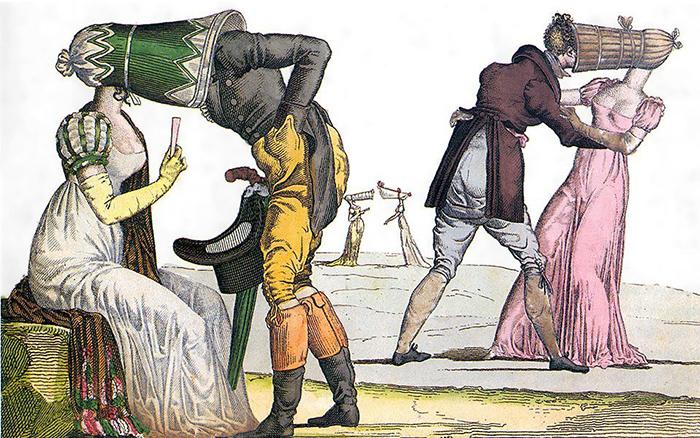 Уединенное свидание. Французская карикатура. 1810-е годы