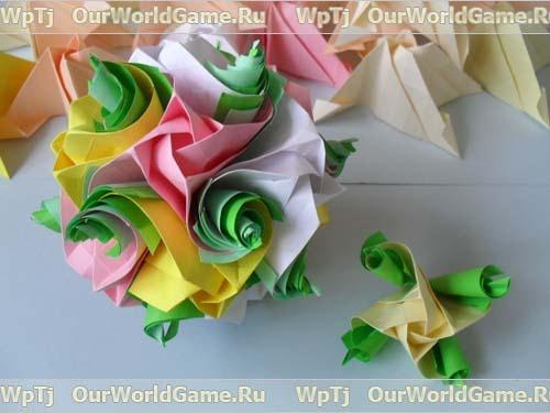 Кусудама модель Кулер+розы.