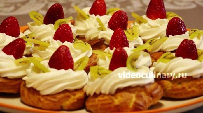 Заварные пирожные «Даниэла»