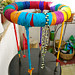 Necklace Display Stand, Colorful Recycled Silk
