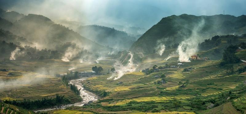 Живописные рисовые террасы Вьетнама